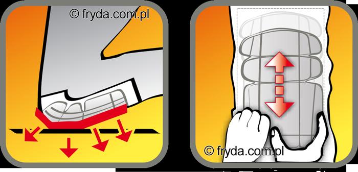Ultralekka wkładka nakolannikowa do spodni roboczych
