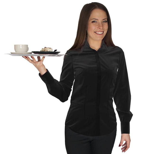 BLuzka kelnerska czarna z długim rękawem